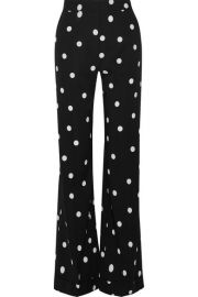 Monse   Polka-dot silk-blend crepe wide-leg pants at Net A Porter