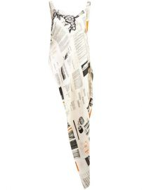 Monse Book Print Asymmetric Tunic - Farfetch at Farfetch