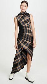 Monse Plaid Pleated Sleeveless Dress at Shopbop