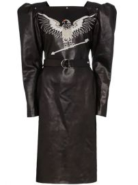 Montana Embroidered Leather Dress - Farfetch at Farfetch