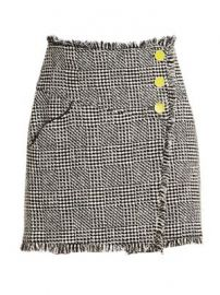 Monti Tweed Fringe Skirt at Saks Fifth Avenue