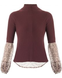 Moon Ribbed Mixed media Sweater by Veronica Beard at Nordstrom