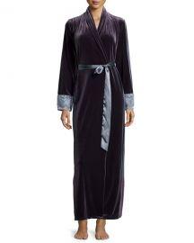 Moonlight Velvet Long Wrap Robe at Neiman Marcus