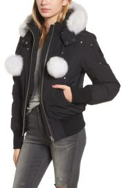 Moose Knuckles   x27 Debbie  x27  Down Bomber Jacket with Genuine Fox Trim   Nordstrom at Nordstrom
