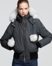 Moose Knuckles Debbie Fox Fur Trim Down Bomber Jacket  Women - Bloomingdale s at Bloomingdales