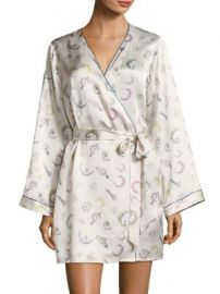 Morgan Lane - Langly Silk Robe at Saks Fifth Avenue