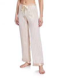 Morgan Lane Chantal Petal Stripe Lounge Pants at Neiman Marcus