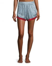 Morgan Lane Chloe Bee Daisies Pajama Shorts at Neiman Marcus