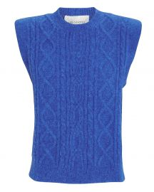 Morris Padded Shoulder Cable Knit Sweater at Intermix