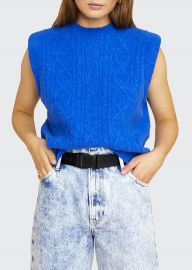 Morris Sleeveless Cable-Knit Sweater at Bergdorf Goodman