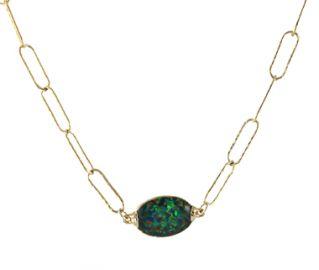 Mosaic Opal Necklace at Peggy Li