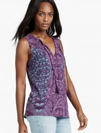 Mosaic Print Tank by Lucky Brand at Lucky Brand