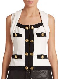 Moschino - Button-Trim Halter Top at Saks Fifth Avenue