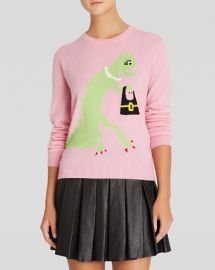 Moschino Cheap And Chic Pullover - Dinosaur with Bag Graphic Cashmere at Bloomingdales
