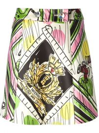 Moschino Cheap andamp Chic Printed Flared Skirt - Di Pierro at Farfetch