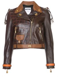 Moschino Crocodile-effect Biker Jacket  5 495 - Buy AW17 Online - Fast Global Delivery  Price at Farfetch