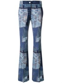 Moschino Denim Patchwork Flares  825 - Buy SS18 Online - Fast Global Delivery  Price at Farfetch