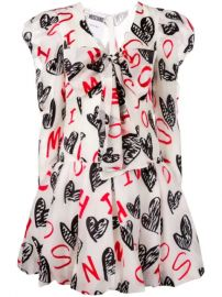 Moschino Heart Print Dress - Farfetch at Farfetch