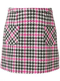 Moschino Houndstooth Mini Skirt at Farfetch