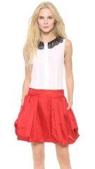 Moschino Lace andamp Imitation Pearl Collar Blouse at Shopbop