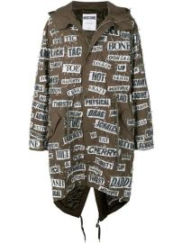Moschino Safety Pin Hooded Parka - Farfetch at Farfetch