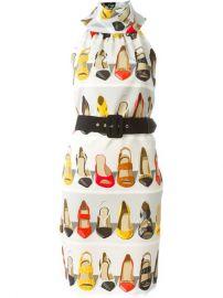 Moschino Shoe Print Dress - Mantovani at Farfetch