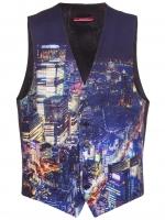 Moschino city print vest at Farfetch