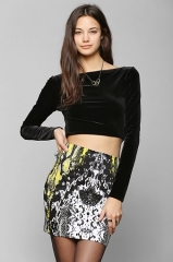 Motel Becka Snake-Print  Mini Skirt at Urban Outfitters