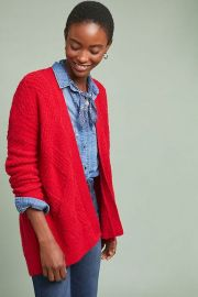 Moth Cable Knit Cardigan at Anthropologie