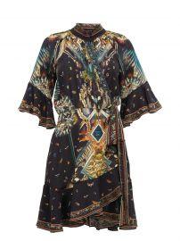 Mother Nature-print silk wrap dress at Matches