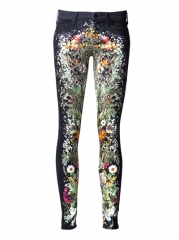 Mother Wildflower Print Jean - Grethen House at Farfetch