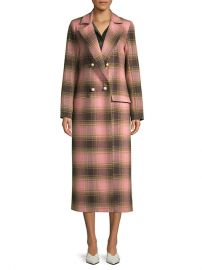 Mother of Pearl Mable Wool Plaid Coat at Saks Off 5th