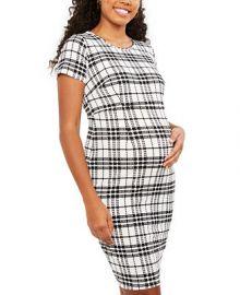Motherhood Maternity Plaid Dress   Reviews - Maternity - Women - Macy s at Macys