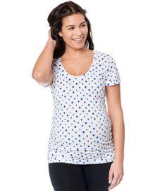 Motherhood Maternity Short-Sleeve Polka-Dot Tee at Macys