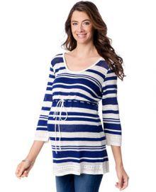 Motherhood Maternity Striped Babydoll Sweater at Macys