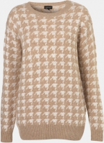 Mouses houndstooth pullover at Topshop