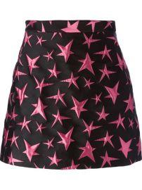 Msgm Star Embroidered Mini Skirt - at Farfetch