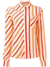 Msgm Striped Shirt  - Biffi at Farfetch