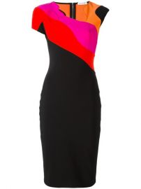 Mugler Colour Block Pencil Dress at Farfetch