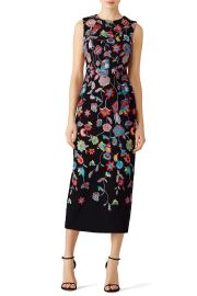 Multi Floral Embroidered Dress by ML Monique Lhuillier at Rent The Runway