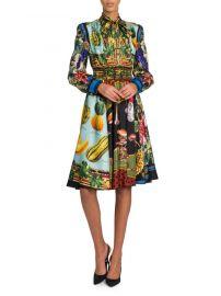 Multi-Fruit Printed Silk Shirtdress by Dolce  Gabbana at Saks Fifth Avenue