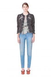 Multi Tweed Bird Embellished Jacket   Rebecca Taylor at Rebecca Taylor