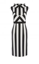 Multi stripe dress at Karen Millen