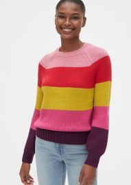 Multicolor Crewneck Sweater by Gap at Gap