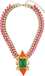 Multicolor Mixed Stone Collar at Topshop