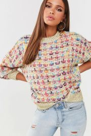 Multicolored Ribbed Sweater at Forever 21