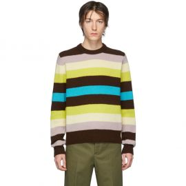 Multicolored Stripe Wool Sweater at Ssense