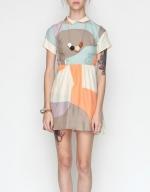 Multicolored collared dress at Needsupply