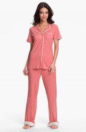 Munki Munki Short Sleeve Knit Pajamas  at Nordstrom