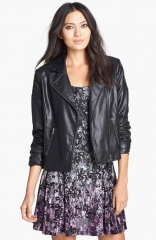 Mural Quilted Shoulder Faux Leather Moto Jacket at Nordstrom